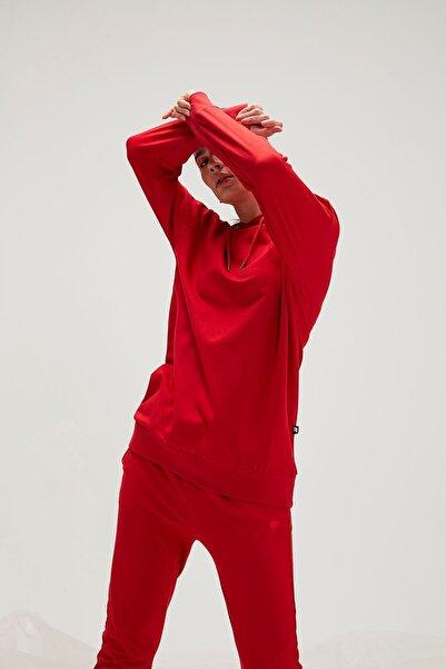 Bad Bear Kadın Sweatshirt Mono Color 20.04.12.009-kırmızı