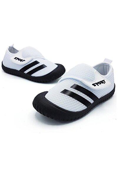 GEZER Çocuk Beyaz Cırtlı Yazlık Spor Ayakkabı