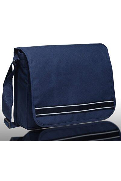 Bagworld Saraciye Laptop Bölmeli Postacı Omuz Çantası 10021 Lacivert - Beyaz Desenli
