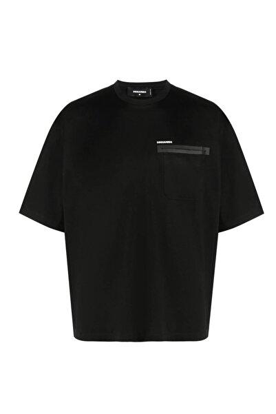 DSquared2 Siyah Patch Pocket Oversize T-shirt