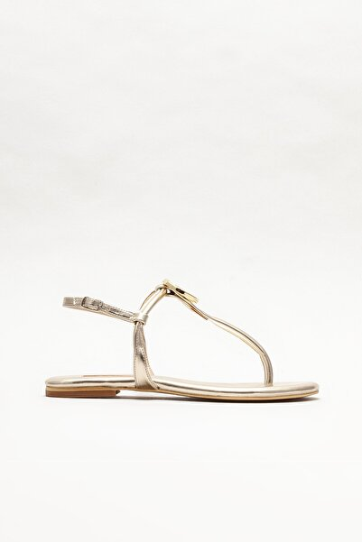 Elle Shoes Kadın Gold Parmak Arası Sandalet
