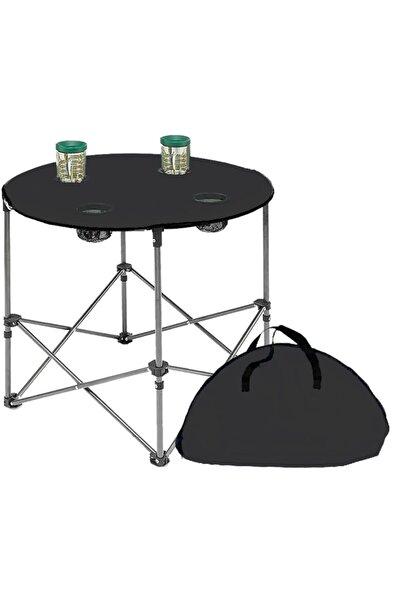 Yekta Home Yekta Çantalı Bez Masa Katlanır Yuvarlak Kamp Masası Piknik Masası