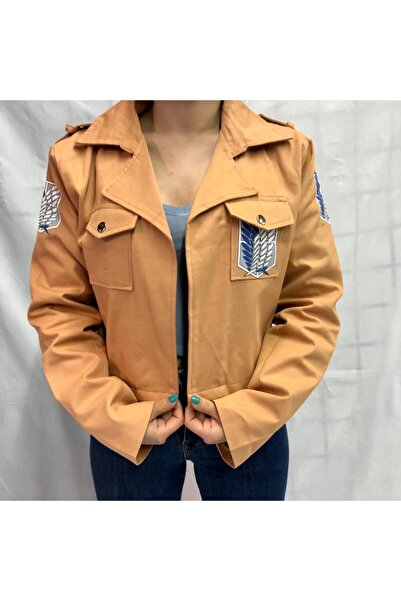 Köstebek Kadın  Kahverengi Shingeki No Kyojin Keşif Birliği Ceketi