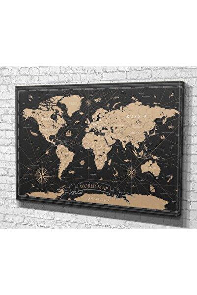 Tablo360 Dünya Haritası Kanvas Tablo