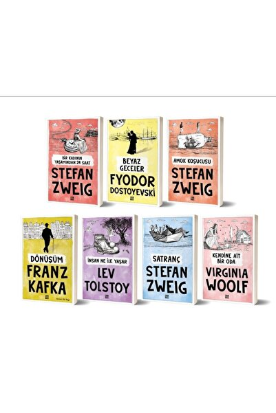 Dokuz Yayınları Modern Dünya Klasikleri Franz Kafka Dostoyevski Stefan Zweig Tolstoy Virginia Woolf 7 Kitap Set