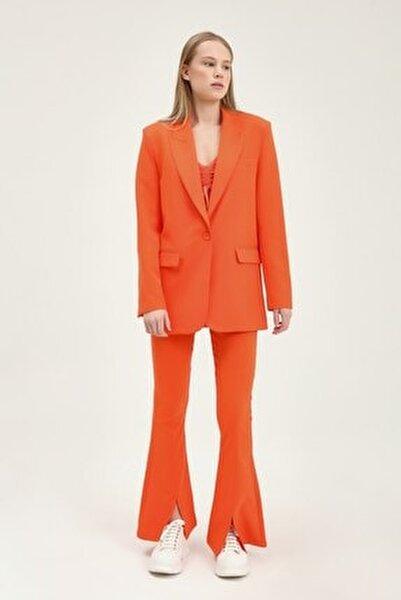 Kadın Turuncu  Blazer Ceket