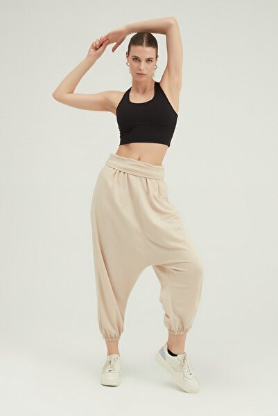 Quzu Kadın Yüksek Bel Şalvar Pantolon