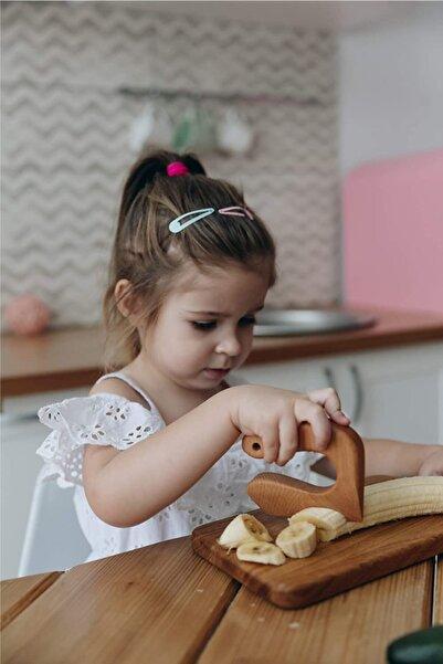 Babyroom Güvenli Ahşap Çocuk Bıçağı ve Özel Kesme Tahtası Seti Mentessori