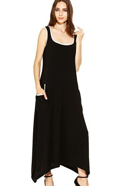 Laranor Şalvar Kesim Cep Detaylı Asimetrik Elbise