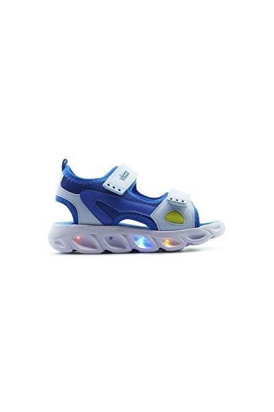 Vicco Erkek Çocuk Saks Mavisi Roy  Işıklı Sandalet Ayakkabı 21y 332.188 Pe