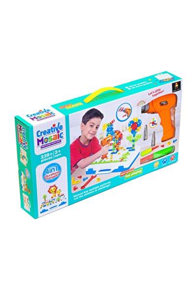 BAŞEL OYUNCAK Başel Toys - Creative Mosaic Eğitici Matkaplı 3d Mozaik Puzzle 11b Build Design Tamir Seti 239 Parça