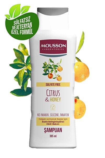 Mousson Turunçgil Ve Bal Özü Içeren Bukle Belirginleştirme Etkili Sülfatsız Şampuan 385 ml