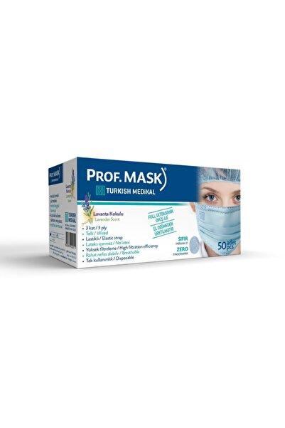 Prof mask Prof. Mask 3 Kat 1. Sınıf Açık Turkuaz Lavanta Kokulu Maske (1 KUTU)