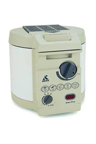 AKSU Ken Fry Asansörlü Fritöz 2200 ml 1600w Sosis Patates Kabak Patlıcan Süzgeçli Kızartma Makinesi