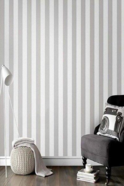 Bien 7940 Gri Beyaz Çizgili Duvar Kağıdı 5,33 M²