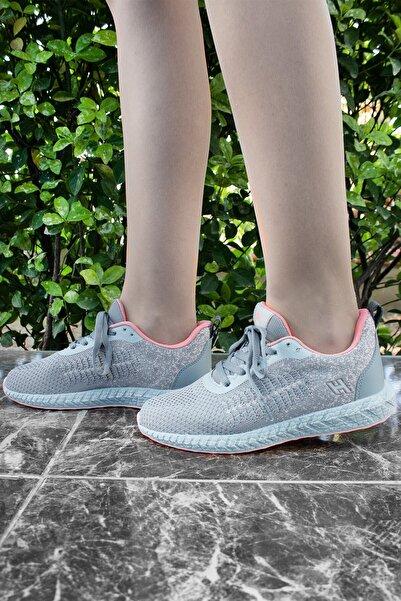 Hammer Jack Gri Pudra Hafif Günlük Spor Yürüyüş Sneaker Ayakkabı