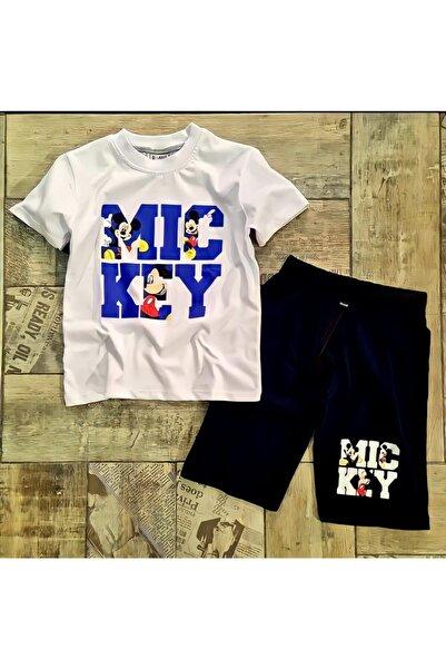 Mickey Mouse Erkek Çocuk Beyaz Şort Takım