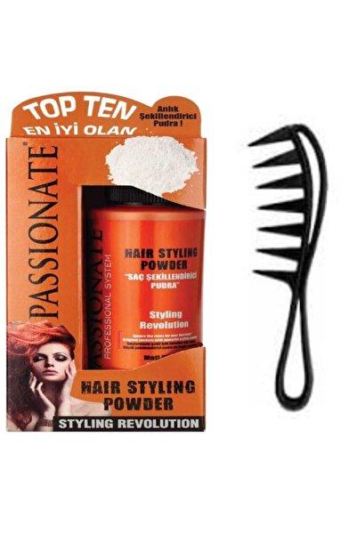 Passionate Saç Şekillendirici Pudra Güçlü Toz Mat 20 Gr + Şekil Tarak 2 Li Set