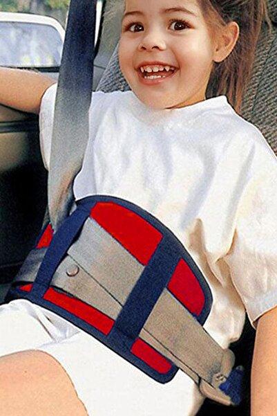 Bundera Kırmızı Soft Çocuk Emniyet Kemeri Tutucu  Kemer Organizer Pedi