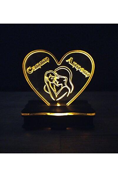 ŞKL Anneye Özel 3d Gece Lambası Canım Annem Yazılı Anneler Günü
