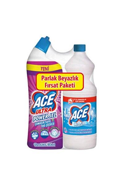 ACE Yağ Çözücü Etkili 2 Li Çamaşır Suyu Set 1lt +810 ml