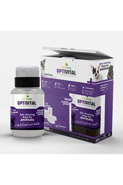 Zoovital Optivital Göz Solüsyonu 150ml - (aseton Pompalı) Disk Pamuk Hediyeli