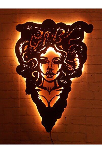 MF TASARIM Medusa Rgb Led Işıklı Ahşap Mdf Dekoratif Tablo