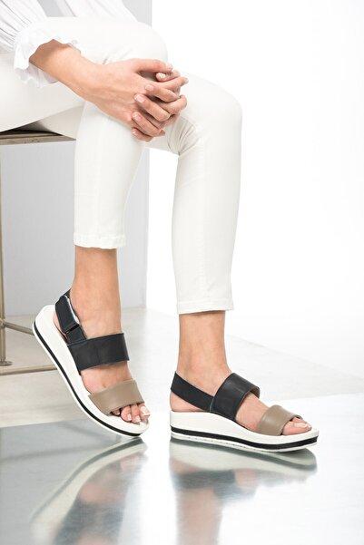 İnci Hakiki Deri Vizon Kadın Sandalet 120120037010