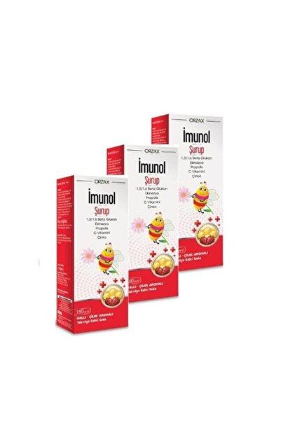 İMUNOL Orzax Imunol Şurup 150 ml  3 Lü Paket SKT:  04/2022
