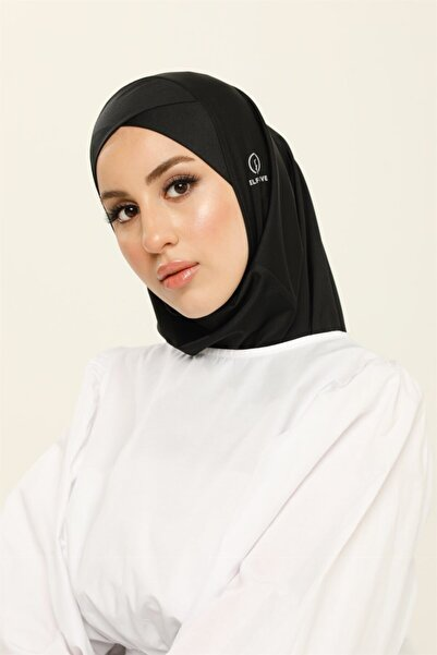 ELF PRIVE Çapraz Hijab Bone-siyah