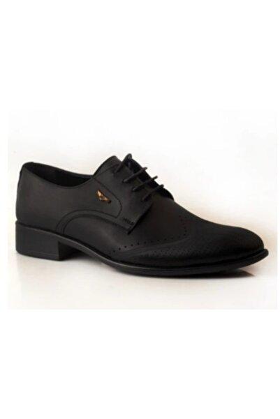 Yasin alkan Erkek Siyah Deri Ayakkabı