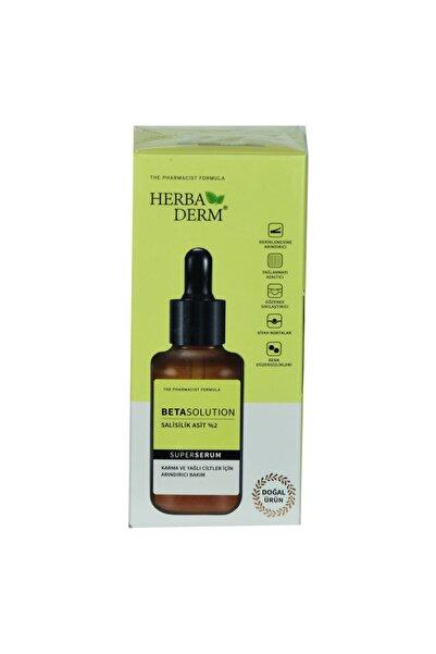 Herbaderm Superserum Betasolution Karma ve Yağlı Cilt Arındırıcı Doğal Yüz Serumu 30 ml