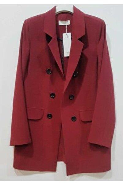 Kadın Bordo Blazer Ceket