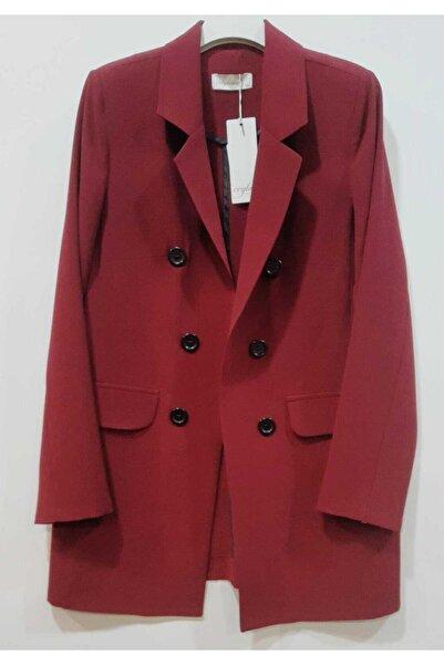 Ceylinn Kadın Bordo Blazer Ceket