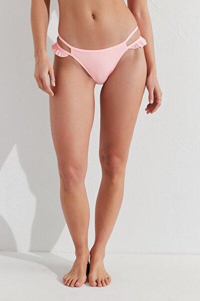 Penti Kadın  Açık Pembe Miami Fırfırlı Side Bikini Altı