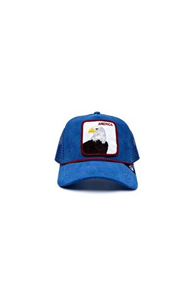 Goorin Bros America For Real ( Kadife Kartal ) Mavi Şapka 101-2708 Mavi Standart