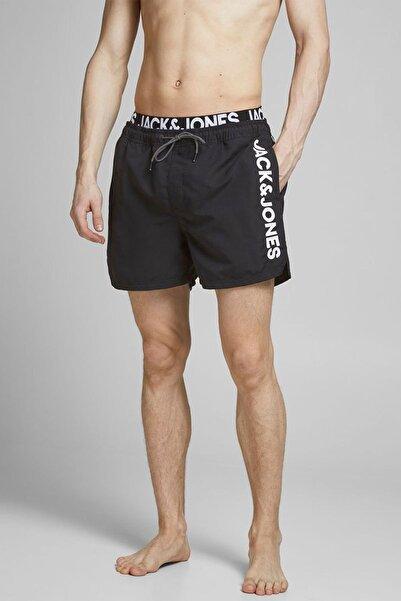 Jack & Jones Erkek Siyah Logo Şort
