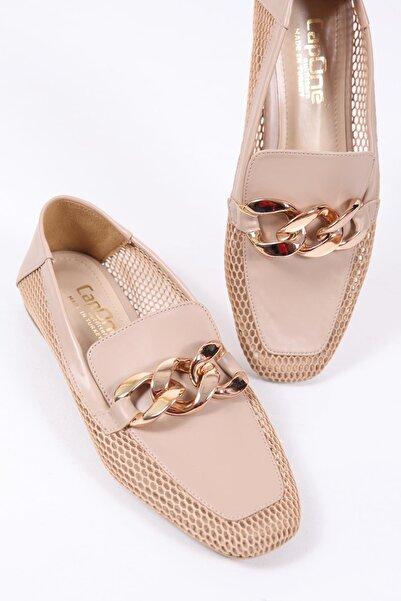 Capone Outfitters Kadın  Zincirli Fileli Loafer Ayakkabı