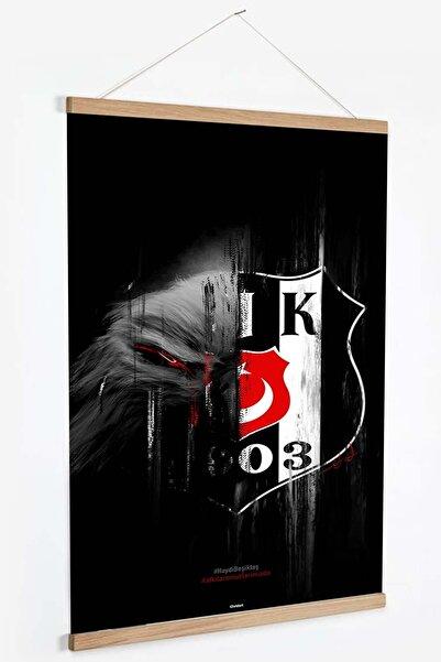 BJK Store Beşiktaş Retro Kanvas Poster / Tablo - Afiş ( Ahşap Askılı )