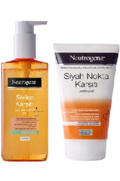 Neutrogena Sivilce Karşıtı Yüz Temizleme Jeli 200 ml Ve Siyah Nokta Karşıtı Peeling Jel 150 ml