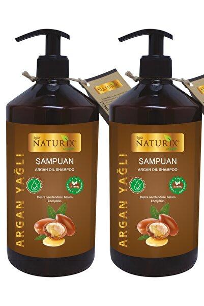 Ilgaz Naturix Organix 2 Adet Tuzsuz Argan Yağlı 600 Ml Bakım Şampuanı Argan Şampuan ( Paraben Fosfat Tuz Içermez )