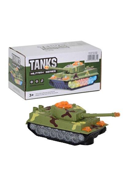 Canda Oyuncak Pilli Işıklı Sesli Çarp Dön Oyuncak Tank-Canda
