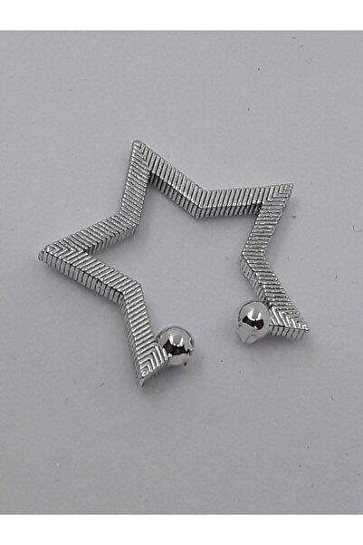 KIVANC ACCESSORİES Kıkırdak Yıldız Küpe Silver