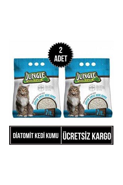 Jungle Diatomit Kedi Kumu 7 Lt Süper Emici X 2 Adet