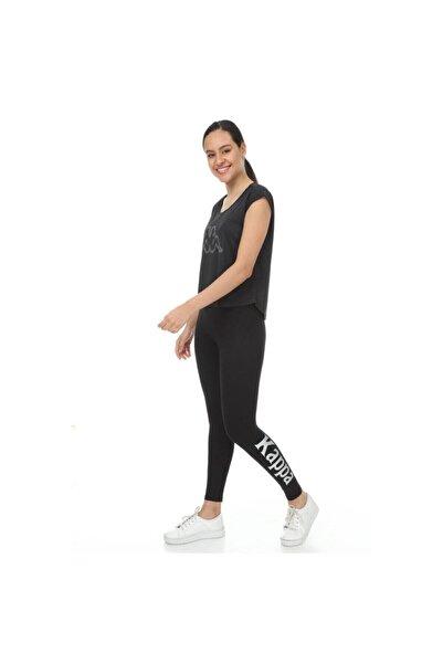 Kappa Kadın Siyah Bibi T-shirt