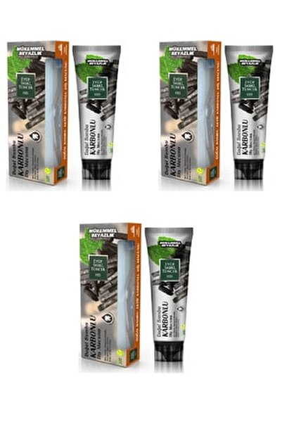 Doğal Aktif Bambu Karbonlu Diş Macunu 75 Ml X 3 Adet