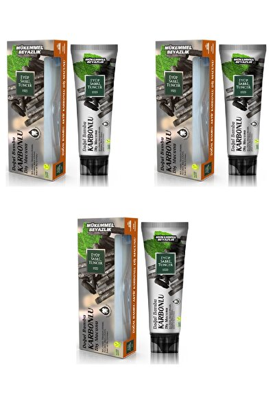 Eyüp Sabri Tuncer Doğal Aktif Bambu Karbonlu Diş Macunu 75 Ml X 3 Adet
