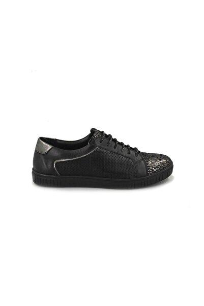 Venüs Hakiki Deri Bağcıklı Kadın Ayakkabı/siyah/40 Numara
