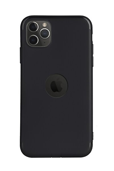 CEPSTOK Apple Iphone 11 Pro Max Kılıf Ultra Ince Slim Tıpalı Siyah Mat Silikon