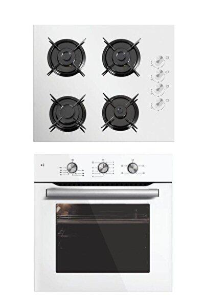 Luxell 2'li Ankastre Set (B66 Kristal Beyaz Fırın- Lx-40 Tahdf Beyaz Ocak)